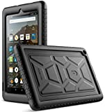 Poetic All-New Fire 7 Tablet Case (9th Gen, 2019 Release), Heavy Duty Shockproof Kids Friendly Silicone Protective Case Cover, Corner Protection, Sound-Amplification Feature, Black