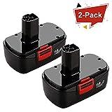 Munikind 2 Packs 19.2 Volt Replacement Battery for Craftsman DieHard C3 315.115410 315.11485 130279005 1323903 120235021 11375 11376 Cordless Drills