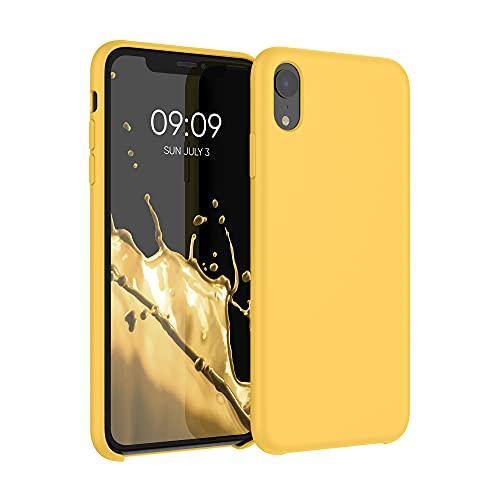 kwmobile Custodia Compatibile con Apple iPhone XR - Cover in Silicone TPU - Back Case per Smartphone - Protezione Gommata Giallo Zafferano