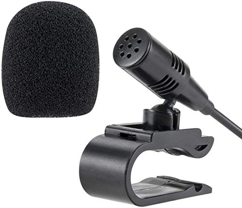 3.5mm Portable Car External Microphone Mic DVD Radio Laptop Stereo Player Head Unit with 3m Cable Plug and Play