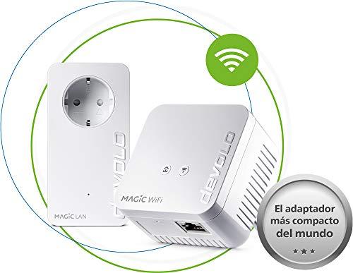 Devolo Magic 1 WiFi Mini: compacte Powerline Starter Kit voor een effectieve WLAN door stroomkabels door muren en plafonds, mesh, G.hn, wifi voor gasten