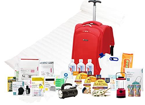 LA・PITA ものすごい防災セットプレミアム1人用(赤) w 防災グッズセット 災害対策 非常用持ち出し袋