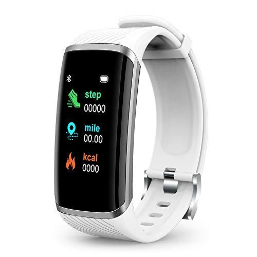 WESSD M8 - Pulsera inteligente para hombre y mujer, reloj inteligente con monitor de frecuencia cardíaca, monitor de sueño, podómetro, multifuncional de moda para exteriores e interiores