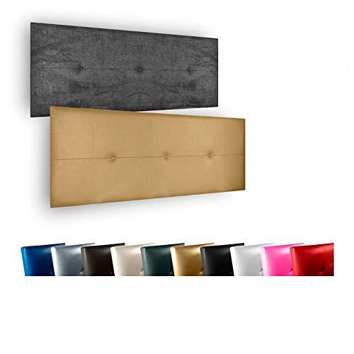 Cabecero de Cama Modelo Valencia tapizado en Polipiel Azahar.para Cama de 180 (Medidas 190x50x5).Color Blanco.Pro Elite.