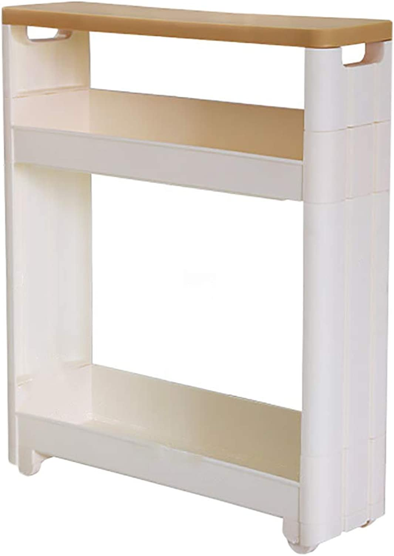 HUYP White Shelf Floor Removable Kitchen Narrow Bathroom Bathroom Organizer