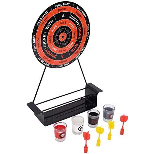 TiKiNi Mini Darts Bar Spielset, Party Trinkspiel Mini Darts Schnapsglas Set Magnetisches Trinkspiel mit Tasse Eisenrahmen Weinglas 4 Spieler