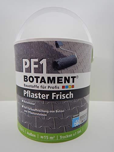 BOTAMENT PF1 PFLASTER FRISCH ANTHRAZIT LASUR HOF GARTEN PFLASTERSTEINE 2,5L (1)