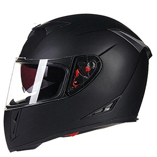 GYZ Casque-Casque de Moto intégral Couvert Voiture de Sport Racing Casque intégral Casque de Moto Scooter Casque simulateur de Collision Casque ++ (Taille : L)