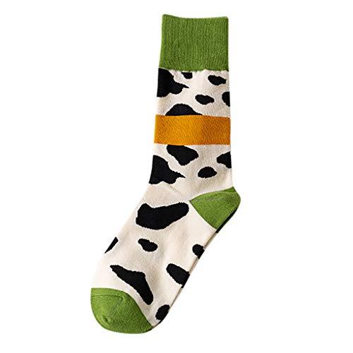 Realde Herren Damen Unisex Socken Sportsocken Freizeit Kuh Drucken Wintersocken Rutschfest Boden Socken Verdicken Warm Halten Mädchen Socken, Hohe Qualität Strümpfe