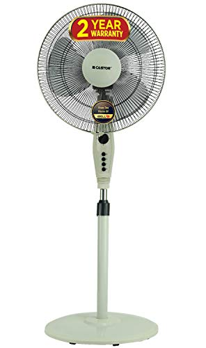 iBELL Castor CTBINGAP3W Pedestal Fan 3 Leaf,406 mm, High Speed with 2 hour Timer Switch (White)