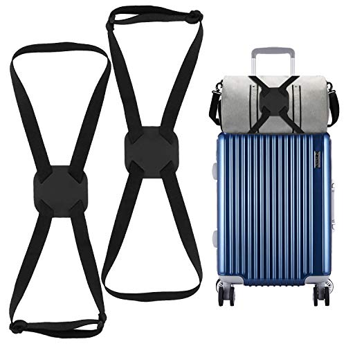 2 Pack Luggage Bungee, High Elastic Suitcase Adjustable Luggage Straps Suitcase Adjustable Belt with Buckles and More Applications