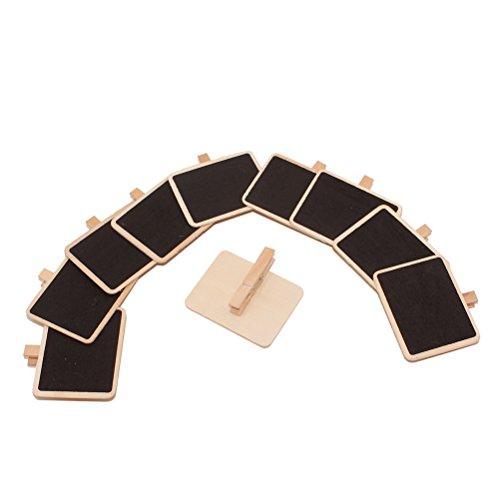 healifty Mini Pizarra decorativa con clip pinzas fotos de madera para decoración 10pcs
