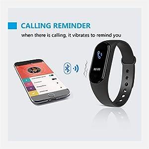 Pulsera M5 Smart Band, IP67 Reloj inteligente a prueba de agua Presión arterial / Monitor de frecuencia cardíaca / Podómetro Pulsera deportiva, Rastreador de actividad física Pulseras Smartband (Azul)