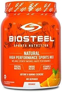 Biosteel High Performance Sports Drink Powder, Naturally Sweetened with Stevia, Orange, 700 Gram