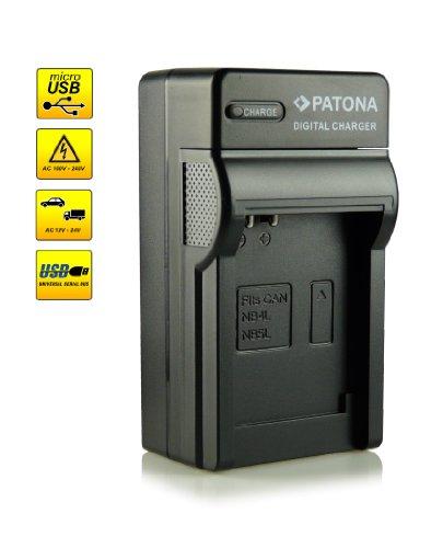4in1 Caricabatteria NB-4L per Canon Digital Ixus 30 | 40 | 50 | 55 | 60 | 65 | 70 | 75 | 80 IS | 82 IS | 100 IS | 110 IS | 115 HS | 120 IS | 130 IS | 220 HS | 230 HS | 255 HS | i zoom | i7 | Wireless - PowerShot SD40 | SD600 | SD750 | SD1000 | SD1100 IS | TX1 e più…