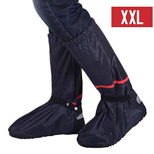 KKmoon Regen Überschuhe wasserdichte rutschfeste Schuhüberzieher mit Reflektoren für Frauen Männer XXL