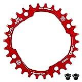 Corona per bicicletta CNC, corona dentata 30T, in alluminio, sottile e larga, 104 mm, BCD,...