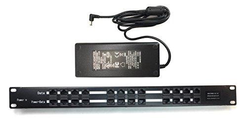 WS-POE-12-48v120w 12 puerto pasivo de alimentación a través de Ethernet PoE Injector con fuente de alimentación 120 W 48 V para cámaras, teléfonos, puntos de acceso WiFi