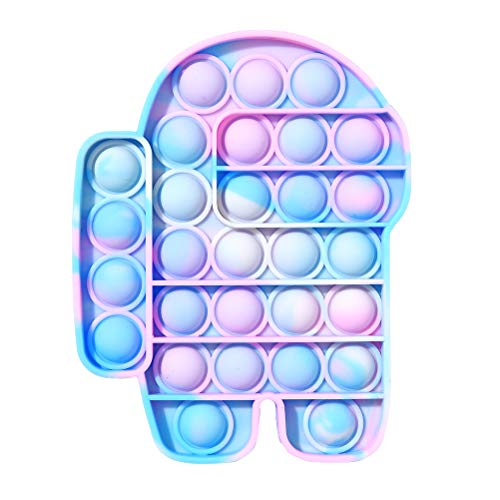 Giocattolo di Decompressione, Among Us Pu-sh Pop Bubble Fidget Toy Fidget Sensory Toys Spremere Giocattoli, Giocattoli Antistress, Autismo Esigenze Speciali Giocattoli Antistress Per Adulti e Bambini