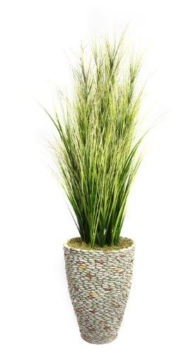 Laura Ashley 188 cm de Hauteur d'oignon Herbe avec brindilles en 40,6 cm Fiberstone Haute Brillance Pot de Fleurs