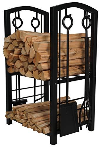 Fire Beauty Fireplace Log Rack with 4 Tools Fireside...