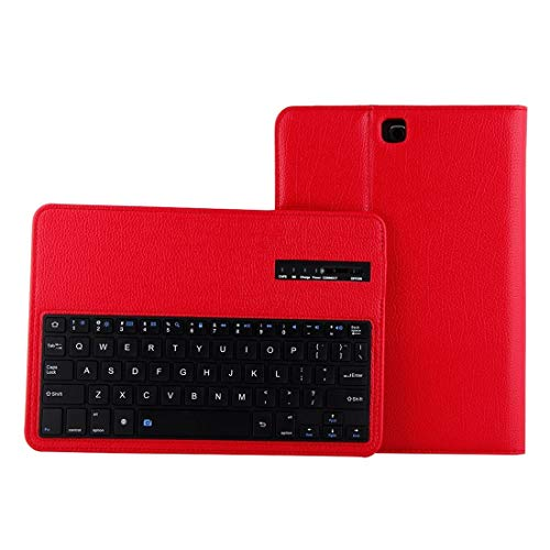 Wdckxy HNZZ Tablet keyboard For Galaxy Tab A 9.7 / T550 & S2 9.7 / T810 2 in 1 Detachable Bluetooth Keyboard Litchi Texture Leather Case with Holder (Color : Red)