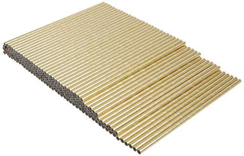 Kikkerland Paper Straws (Set of 144) Gold