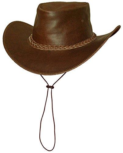 Black Jungle Broome - Cowboyhut aus Rindsleder mit Kinnriemen, Braun S