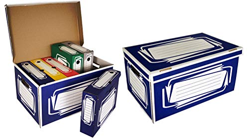 Container avec 6 Boites à Archives Couleurs New