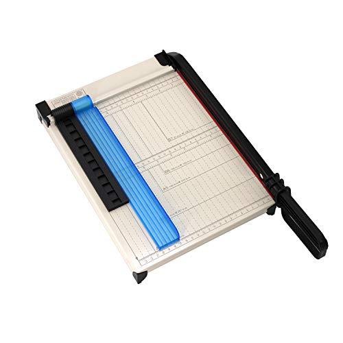 TEXALAN 종이 절단기 A4 종이 트리머 12`` 절단 길이 12매 용량 자석 클램프가 있는 단두대 종이 사진 절단기 용지 가이드 크기 가이드라인