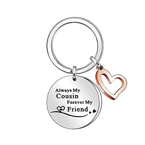 Cousin to Cousin Gift Always My Cousin Forever My Friend Keyring Keychain...