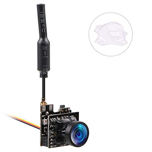 Crazepony-UK FPV Micro AIO Camara 5.8G 40CH Camera VTX Switchable Raceband Support OSD FOV 150°for FPV Drone Like Blade Inductrix Tiny Whoop