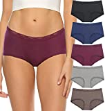 Plus Size Underwear for Womens Modal Bikini Lace Trim Briefs Panties For Women Comfy Cheeky Seamless Soft Breathable Hipster Pack(318XXL-Gray) -  GNEPH