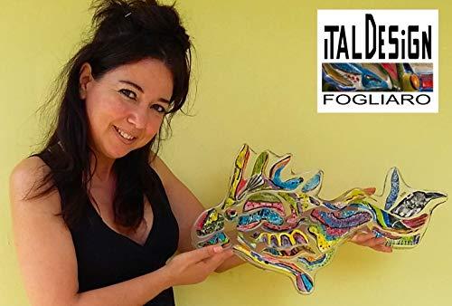 PAPAGEIENFISCH. FURNISHING WALL OPERA D 'MODERN ART UNTERZEICHNET ITALDESIGNFOGLIARO FRAMEWORK CONTEMPORARY ART