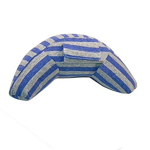 Algodón niños asiento cinturón de seguridad cubierta de apoyo asiento de coche almohada niños asiento siesta cinturón de hombro almohadilla niños viajes accesorios accesorios interior ( Color : Blue )