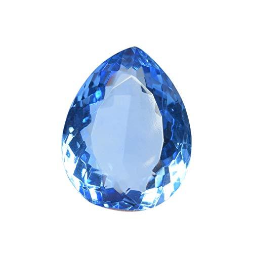 REAL-GEMS Topacio Azul brasileño 57.00 CT Topacio Azul Suelto de Piedras Preciosas más Finas para el Colgante