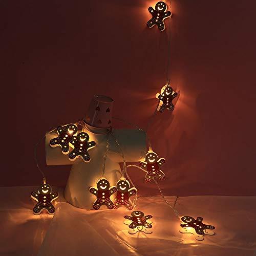 Lichterkette Weihnachts Schneemann Weihnachtsschnur Light Weihnachten 2M/10 LED Lichter Party Home Decor Outdoor Indoor Xmas Lampe Batterienbetrieben Warmweiß Weihnachtsbeleuchtung