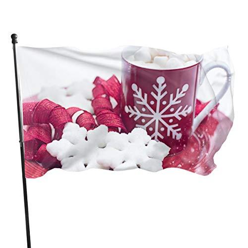 S/O Flag Mug de Noël en chocolat chaud pour l'hiver, avec un seul facteur, protection UV