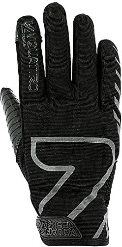 Vquattro - Guantes de moto homologados CE para hombre, color negro XXL