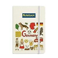 ドイツの風景の動物の国旗 ノートブッククラシックジャーナル日記A 5