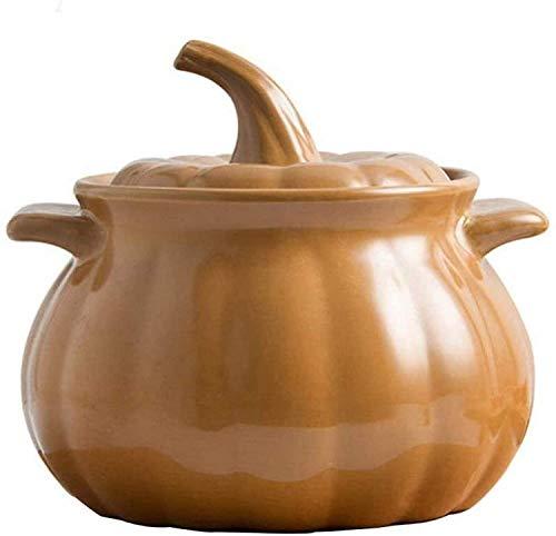 WJHCDDA Cacerola de arcilla para cocinar cazuela de hierro fundido con forma de calabaza, se puede utilizar para cocina de inducción, duradera y fácil de limpiar (tamaño : capacidad 3 L)