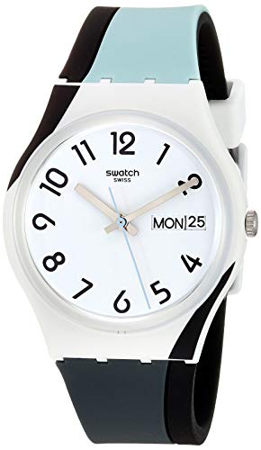 Swatch 1907 BAU Quartz Silicone Strap, White, 16 Casual Watch (Model: GW711)