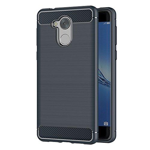 Honor 6C Hülle, MHHQ Silikon Handyhülle Rückseite Schutzhülle Soft TPU Hülle Backcover Bumper Slimcase Etui Tasche für Huawei Honor 6C -Blau