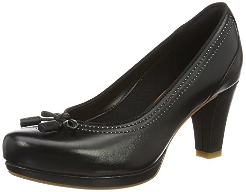 Clarks Damen Chorus Bombay Pumps, Schwarz (Black Leather), 38 EU