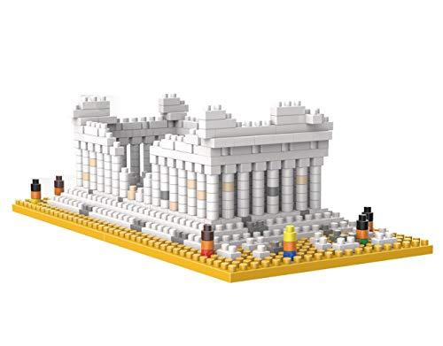 Wise Hawk Partenón de Grecia. Modelo de Arquitectura para armar con nanobloques