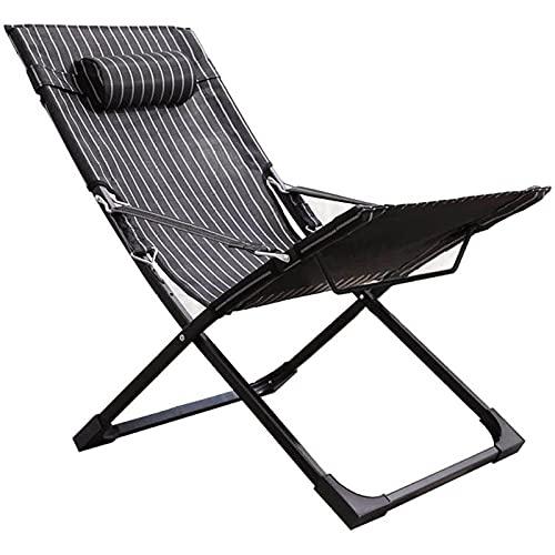CHLDDHC Silla Zero Gravity Silla de Gran tamaño reclinable Plegable para Patio Silla de jardín Ajustable con reposacabezas para Exteriores, Camping, Patio, césped