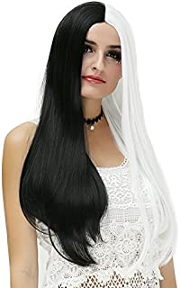 Probeauty Halloween Collection 75cm Mix Color Gothic Long Straight Ombre Hair Synthetic Cosplay Wig+Cap