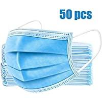 50-Pack Disposable 3-PLY Non-Woven Earloop Face Mask