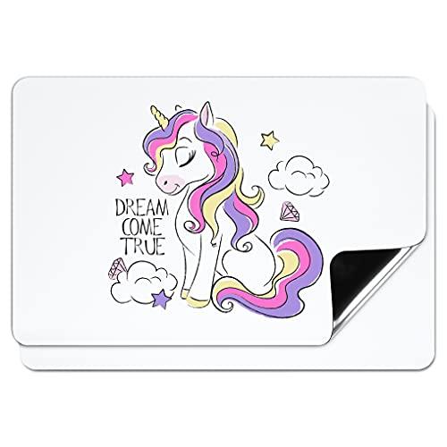 Magnetic Dry Erase Whiteboard Sheet - 2-Pack White Board Magnet Sheets 17 x 11 Inches, Dry Erase Refrigerator Message Board for Kitchen Fridge, Large