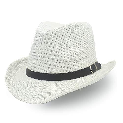 Yiph-Hat Accesorios Sombrero de ala Ancha Diario Sombrero de Paja de Jazz...